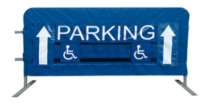 Parking directions on barriers